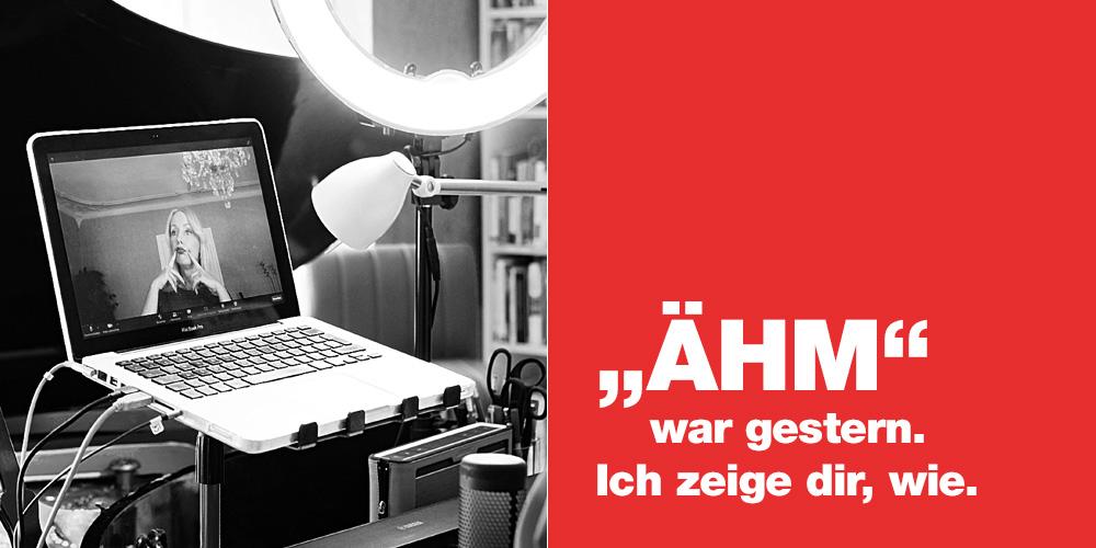 """""""Ähm"""" war gestern. Online-Coaching für deine Rede, für Sprecher, für Radio und Podcast, für Bühne und Konferenz, Online und Präsenz"""